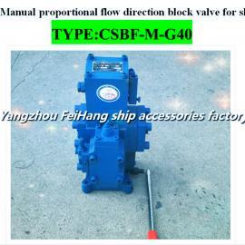 工厂直销-船用手动比例流量阀CSBF-M-G40