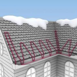 天沟融雪电伴热 发热电缆天沟融雪系统