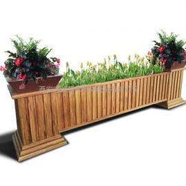 市政街道仿木纹铝合金花箱|pvc花箱|不锈钢花盆|防腐木种植箱