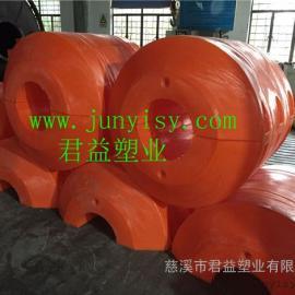 江苏抽沙管道塑料浮筒批发 孔径400夹管抽泥浆浮筒