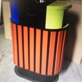 景�^公�@�h保垃圾箱街道小�^物�I垃圾桶�敉怆p桶塑木分�垃圾桶