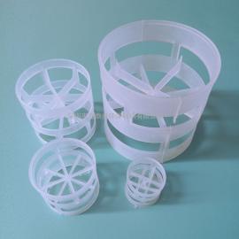 25mmPP塑料鲍尔环填料米字型分离吸收塔氨合成化工环保填料