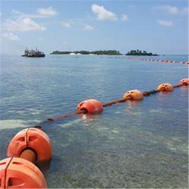 水上托管塑料浮体 耐腐蚀夹管抽沙管道浮体价格