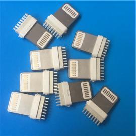 加长/苹果插板公头8P 苹果背夹插头ph=0.8mm扦板式 耐高温