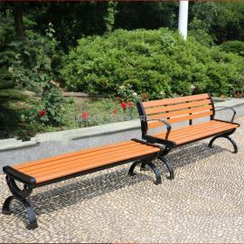 户外公园椅_园林座椅_木塑休闲椅子陕西志诚塑木厂家加工制作