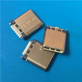 简易USB 3.1公头7P 14P夹板TYPE-C型焊线带地线1.0 1.5脚长