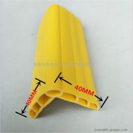 自带粘胶PVC空心防撞条 墙角防撞条定做