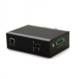 公共安全视频监控联网应用项目百兆1光1电工业级光纤收发器