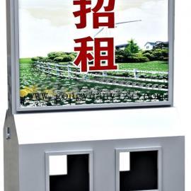 西安广告垃圾箱_西安太阳能灯箱_市政街道广告式分类垃圾桶厂家