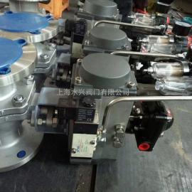 Q641F46-16P不锈钢气动衬氟球阀