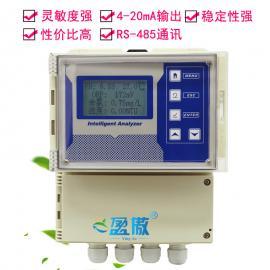 河水库自来水饮用余氯浊度PH温度酸碱度一体式监测控制仪