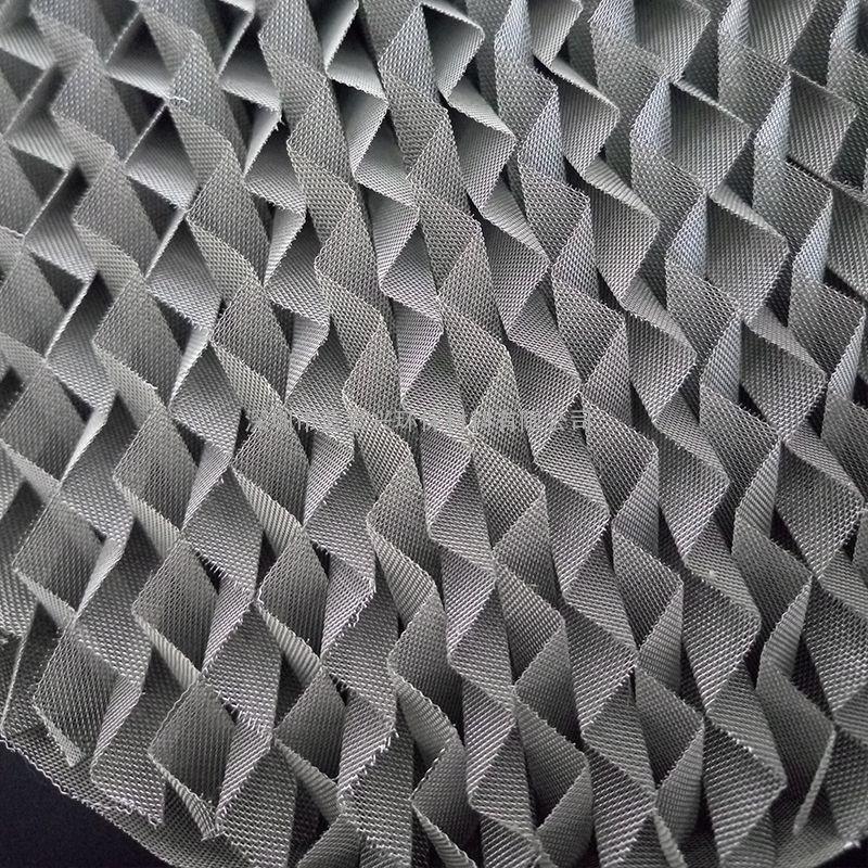 精密精馏塔规整填料700Y不锈钢丝网波纹填料304金属丝网波纹