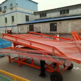 河源市分体市装卸平台-折叠式登车桥
