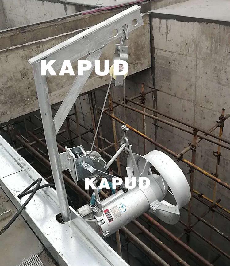 潜水搅拌器现场安装图 潜水搅拌机安装注意事项 凯普德