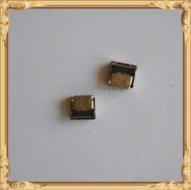 TYPE-C 母座H=8.75-8.8双外壳 双排24P-SMT 四脚插板
