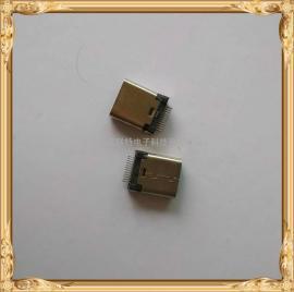 TYPE-C 母座9.3mm夹板1.0/0.8 180度大钳脚参加