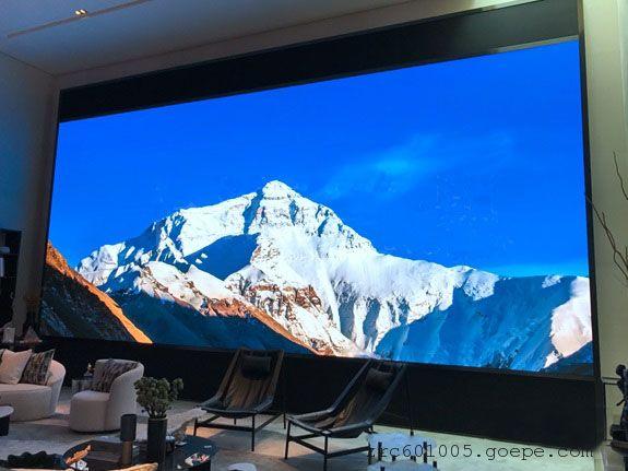 展示厅LED屏幕合适尺寸型号p1.87高清屏点亮效果