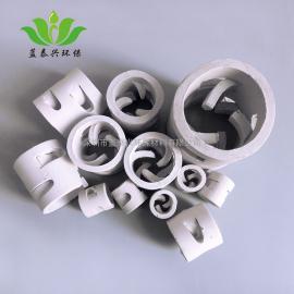 50mm陶瓷鲍尔环耐酸耐热反应塔填料冷却塔洗涤塔耐高温填料
