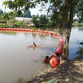 龙山县水上塑料浮栏 清渣围栏塑料浮体规格介绍