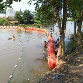水面对夹式圆柱形塑料拦污排厂家直销