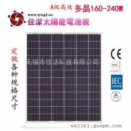 乌鲁木齐160-240瓦多晶太阳能电池板组件(72片串)