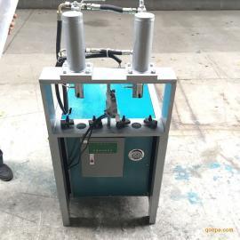 白钢管切口机 液压冲断机 护栏打孔设备