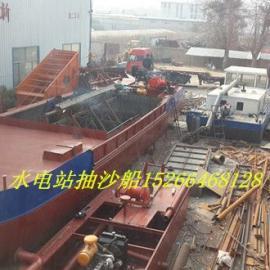 广东肇庆65立方自抽自卸抽沙船现场加工