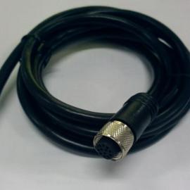 科迎法M12自锁面板式航空插头 卡口对接防水连接器IP67防护等级