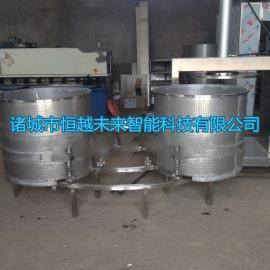 恒越未来HYWL-500L大姜液压压榨机,韭菜压榨机,果蔬压榨脱水机