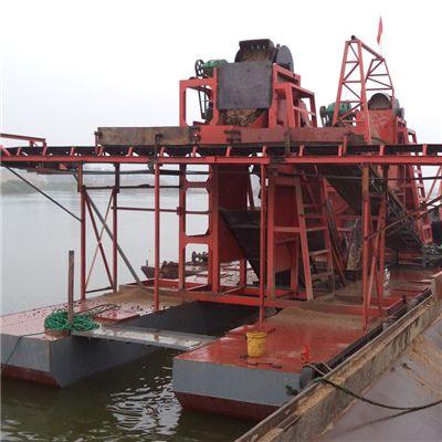 挖沙挖石头船质量好的商家 河道挖斗式船链斗船挖沙设备