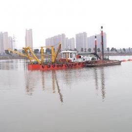 客户定制机械式液压绞吸挖泥船现场工作中
