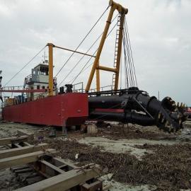 江苏盐城小型环保四桩定位绞吸式清淤船配置构造