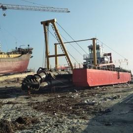 14寸河道环保绞吸式挖泥船产量高