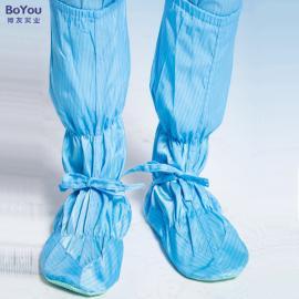 pvc软底防静电高筒鞋无尘PU低长筒防护鞋防尘鞋条纹/网格定制批发