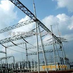 生产加工变电站热镀锌钢构架及周边配套避雷塔、钢管避雷针