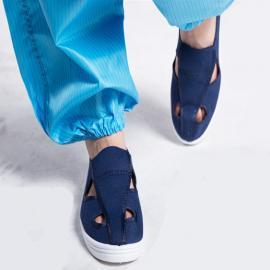 防静电鞋定做防静电四眼鞋拖鞋劳保鞋无尘室电子防护鞋厂家批发
