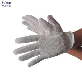 防静电点胶手套点胶防滑手套防静电条纹无尘劳保手套厂家批发