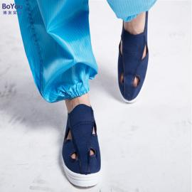 厂家定制防静电pvc四孔鞋 帆布四眼防尘工作鞋四孔鞋 SPU四眼鞋