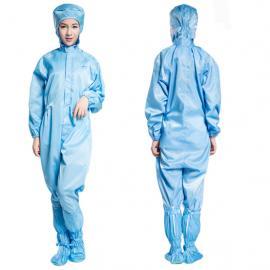 厂家直销防静电连体服防尘洁净服防护服实验室电子厂食品工作服