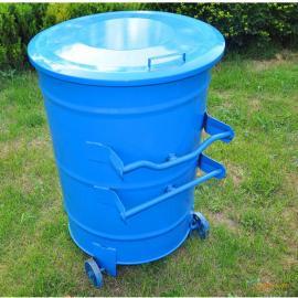 脚踏环卫垃圾桶 弹盖方形钢板垃圾桶 果皮箱 厂家批发