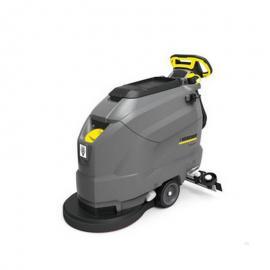 凯驰洗地机商场车间用手推式洗地吸干机