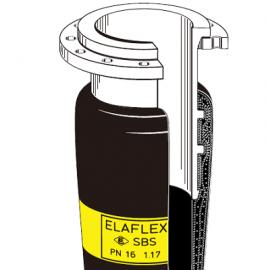 德国elaflex黄色带带硫化内置喷嘴的海洋运输软管
