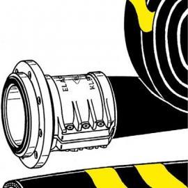 德国ELAFLEX黄色带无螺旋可折叠高压软管