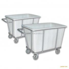 塑料洗衣房布草车、作业手推车、推布草车