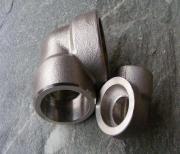 不锈钢承插式焊接弯头 锻制高压304 316弯头 90度45度沉插式弯头