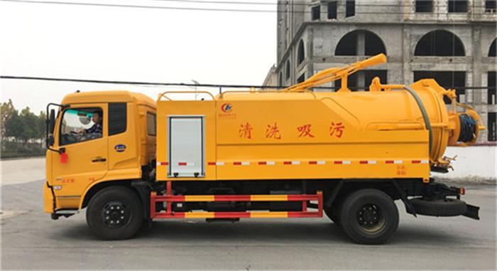 东风天锦12方10吨清洗两用吸污车价格参数