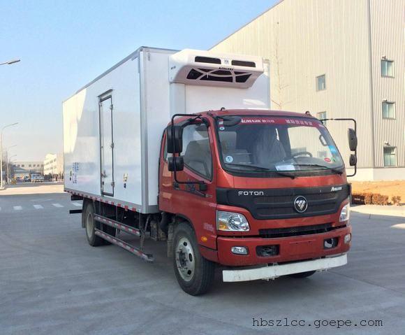 福田欧玛可6米排半冷藏车