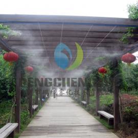 生态酒店喷雾降温工程|空调机房降温工程|人工湖冷雾设备