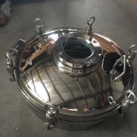 厂家直销DN450不锈钢反应釜快开人孔