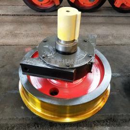 卫华起重机轮子 钢包套装车轮 500单缘7524轴承行车轮 图纸参数